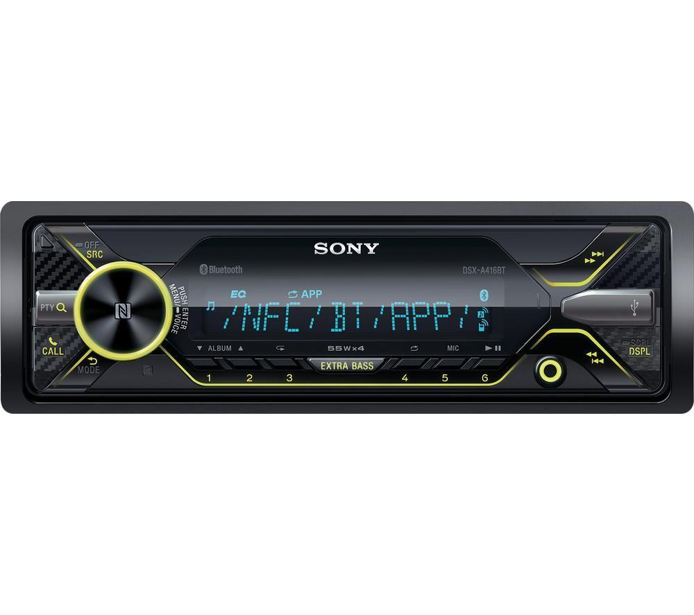 SONY DSX-A416BT Smart Bluetooth Car Radio - Black, Black