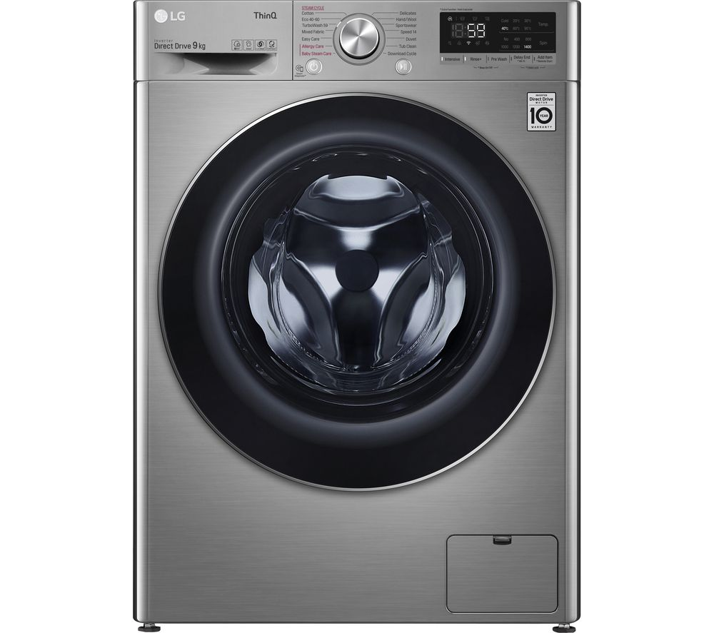 LG TurboWash with AI DD V7 F4V709STSE WiFi-enabled 9 kg 1400 Spin Washing Machine - Graphite