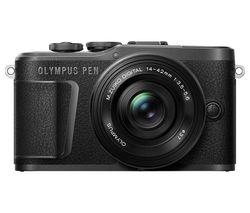 PEN E-PL10 Mirrorless Camera with M.ZUIKO DIGITAL ED 14-42 mm f/3.5-5.6 EZ Lens - Black