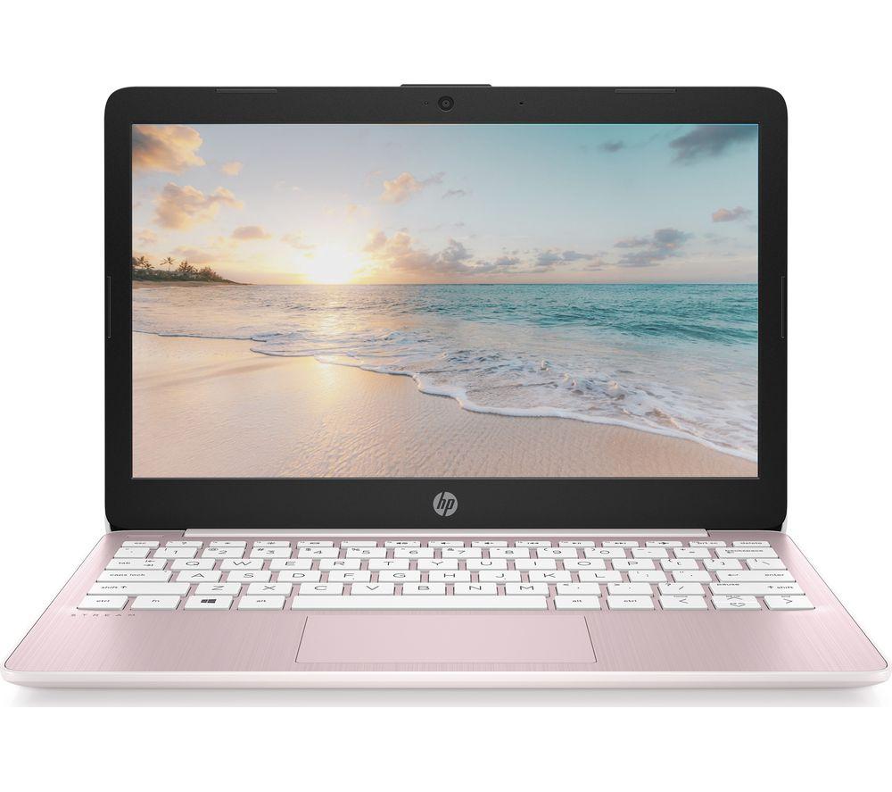 """Image of HP Stream 11-ak0508sa 11.6"""" Laptop - Intel®Celeron™, 32 GB eMMC, Pink, Pink"""