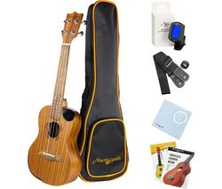 UK-712S-N Soprano Ukulele Pack - Natural