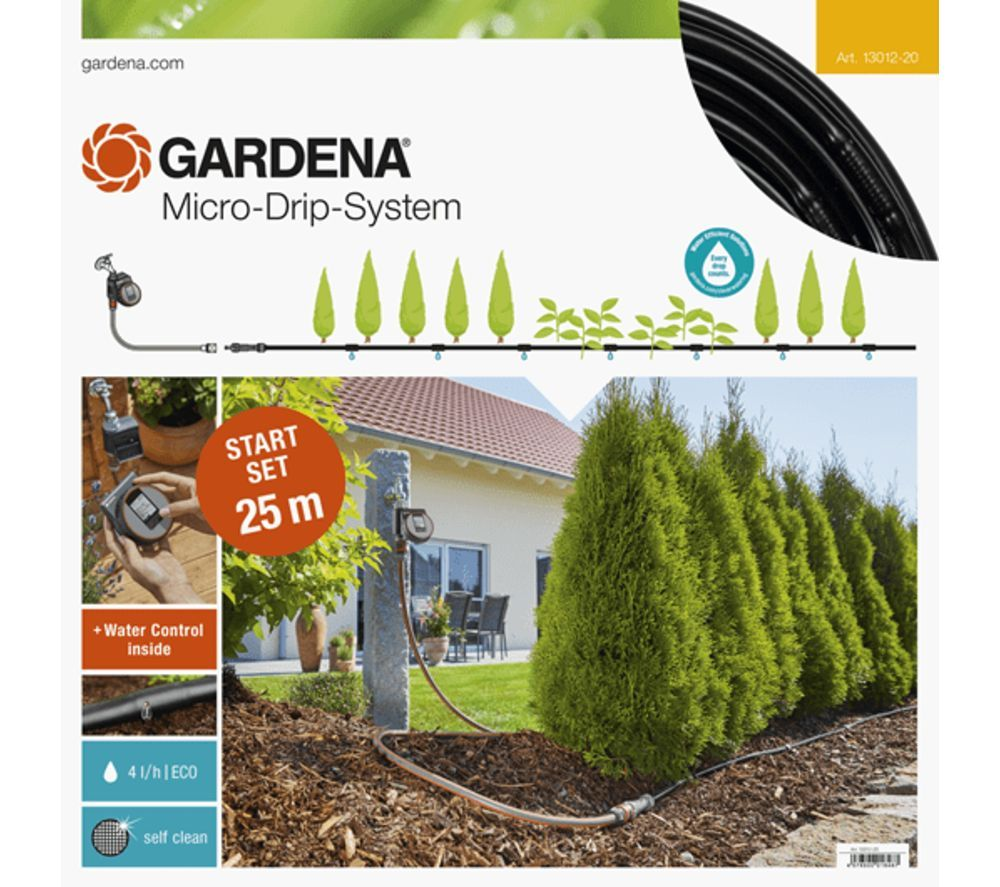 GARDENA 13012-20 Planted Rows Micro-Drip-System Starter Set