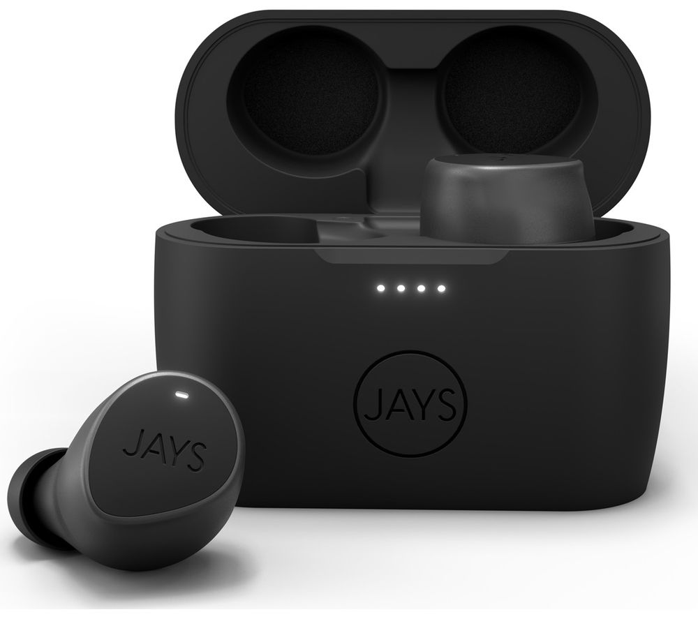 JAYS m-Seven Wireless Bluetooth Earphones - Black