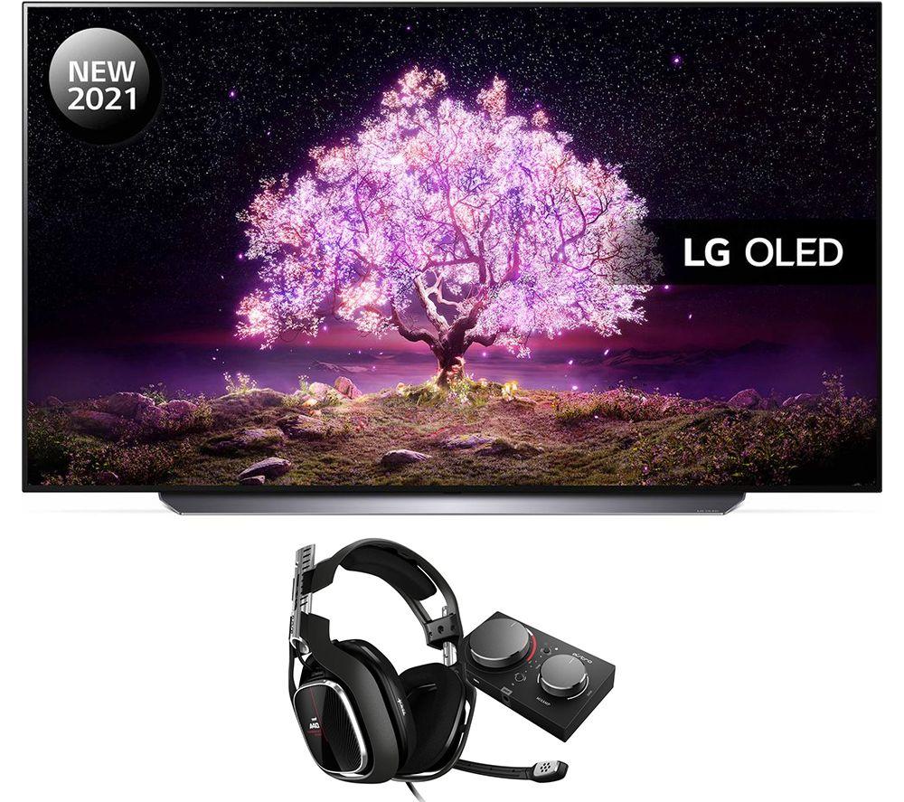 """Image of 65"""" LG OLED65C14LB Smart 4K TV, Astro Gaming Headset & MixAmp Pro Bundle"""