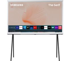 "The Serif QE50LS01TAUXXU 50"" Smart 4K Ultra HD HDR QLED TV with Bixby, Alexa & Google Assistant - Cloud White"