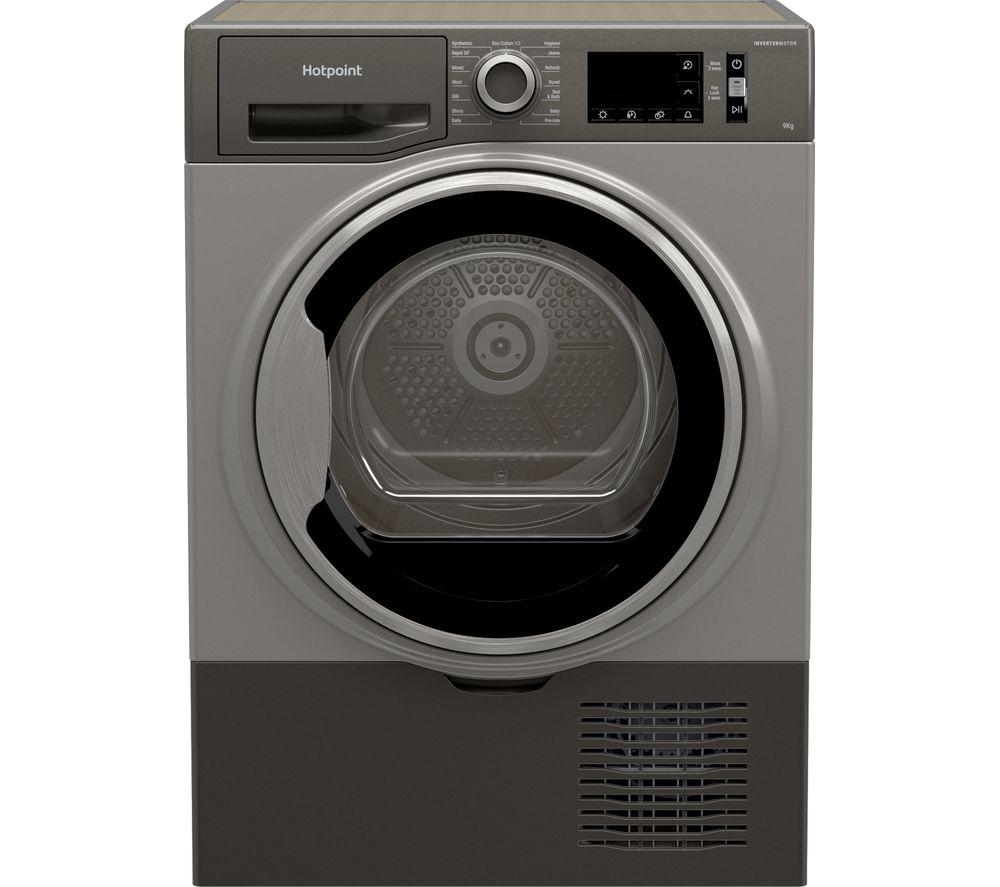 HOTPOINT H3 D91GS UK 9 kg Condenser Tumble Dryer - Graphite, Graphite