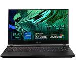 £3299, GIGABYTE AERO OLED 15YD 15.6inch Gaming Laptop - Intel® Core™ i7, RTX 3080, 1 TB SSD, Intel® Core™ i7-11800H Processor, RAM: 16GB / Storage: 1 TB SSD, Graphics: NVIDIA GeForce RTX 3080 8GB, 4K Ultra HD screen, Battery life:Up to 8 hours,