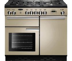 RANGEMASTER Professional+ 100 Dual Fuel Range Cooker - Cream & Chrome
