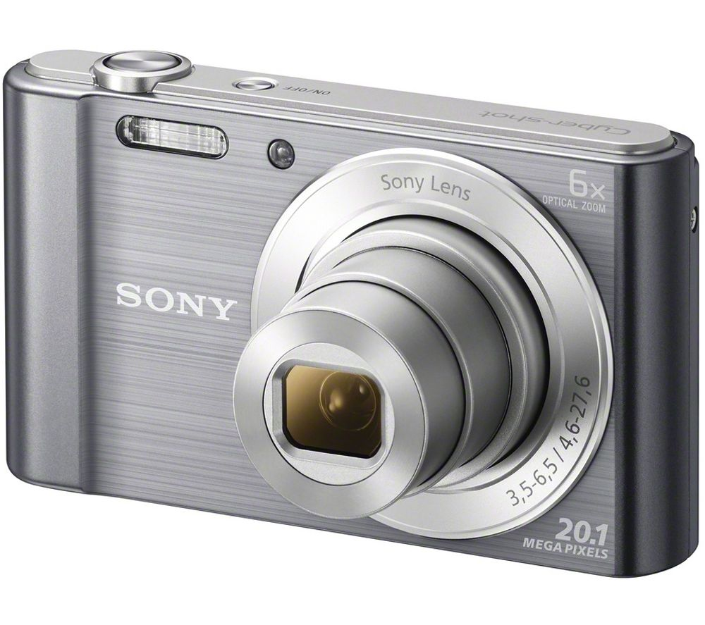 SONY Cyber-shot DSCW810B Compact Camera - Gun Metal + Extreme Plus Class 10 SDHC Memory Card - 16 GB, Twin Pack