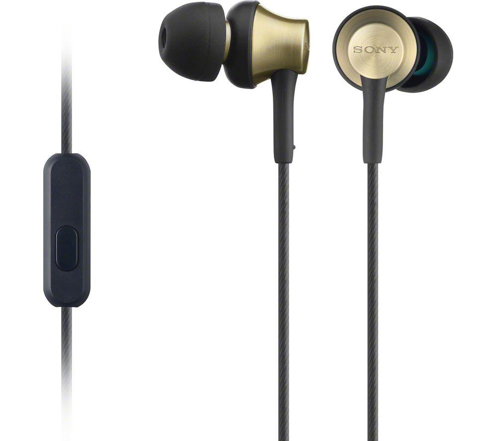SONY MDR-EX650APT Headphones - Black & Gold