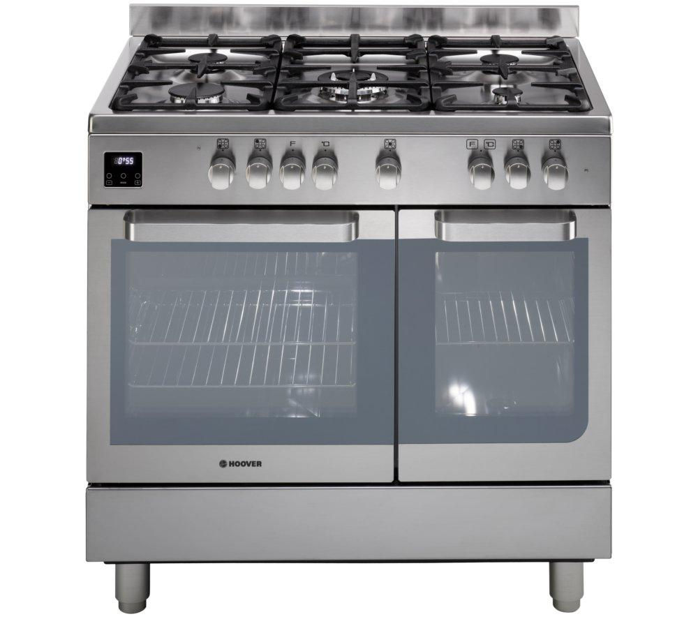 HOOVER HGD9395IX Dual Fuel Range Cooker - Stainless Steel