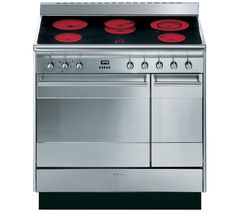 SMEG Concert 90 Electric Ceramic Range Cooker - Stainless Steel