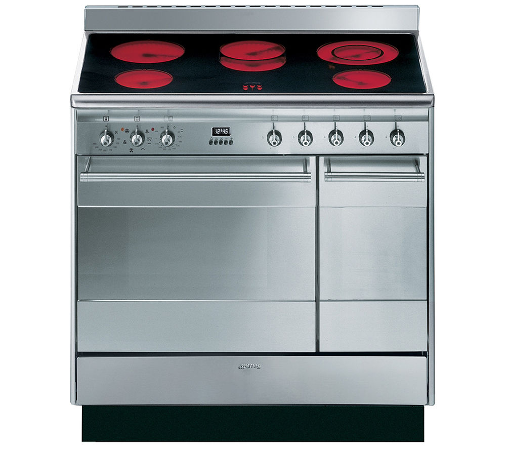 buy smeg concert 90 electric ceramic range cooker. Black Bedroom Furniture Sets. Home Design Ideas