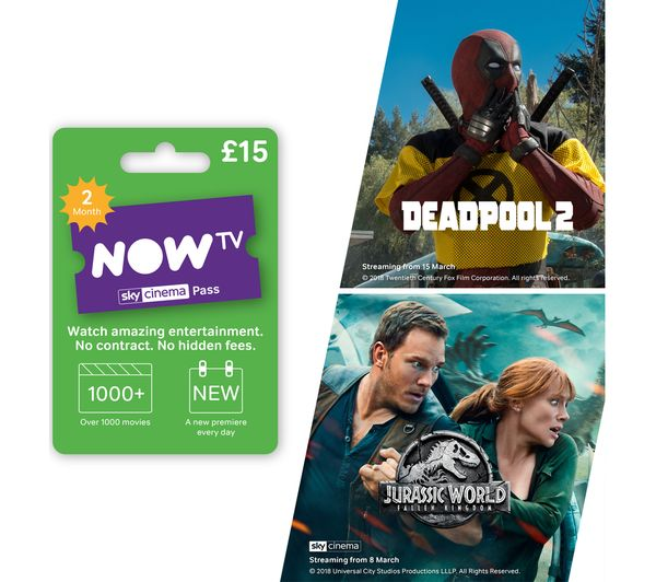 Image of NOW TV Sky Movies Pass - 2 Month