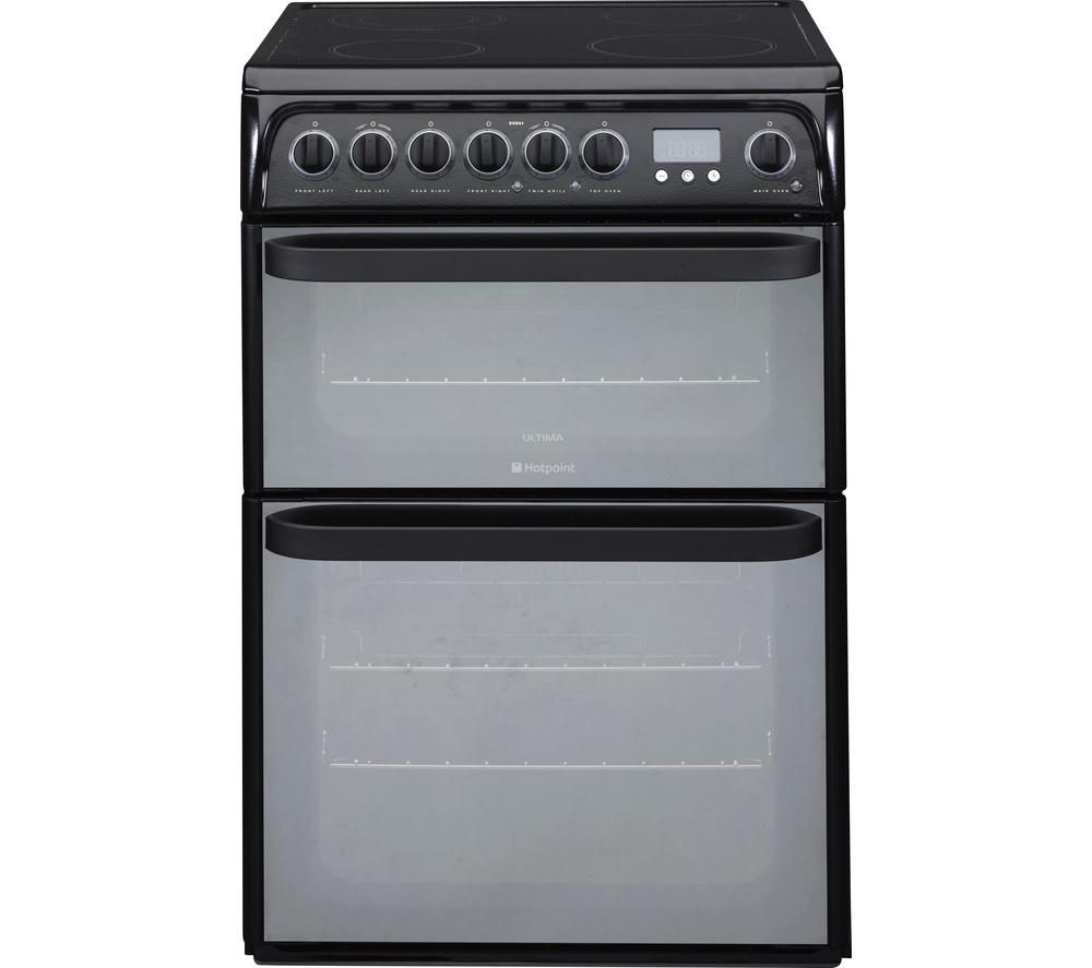 HOTPOINT Ultima DUE61BC Electric Ceramic Cooker – Black