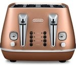 DELONGHI Distinta CTI4003.CP 4-Slice Toaster - Copper