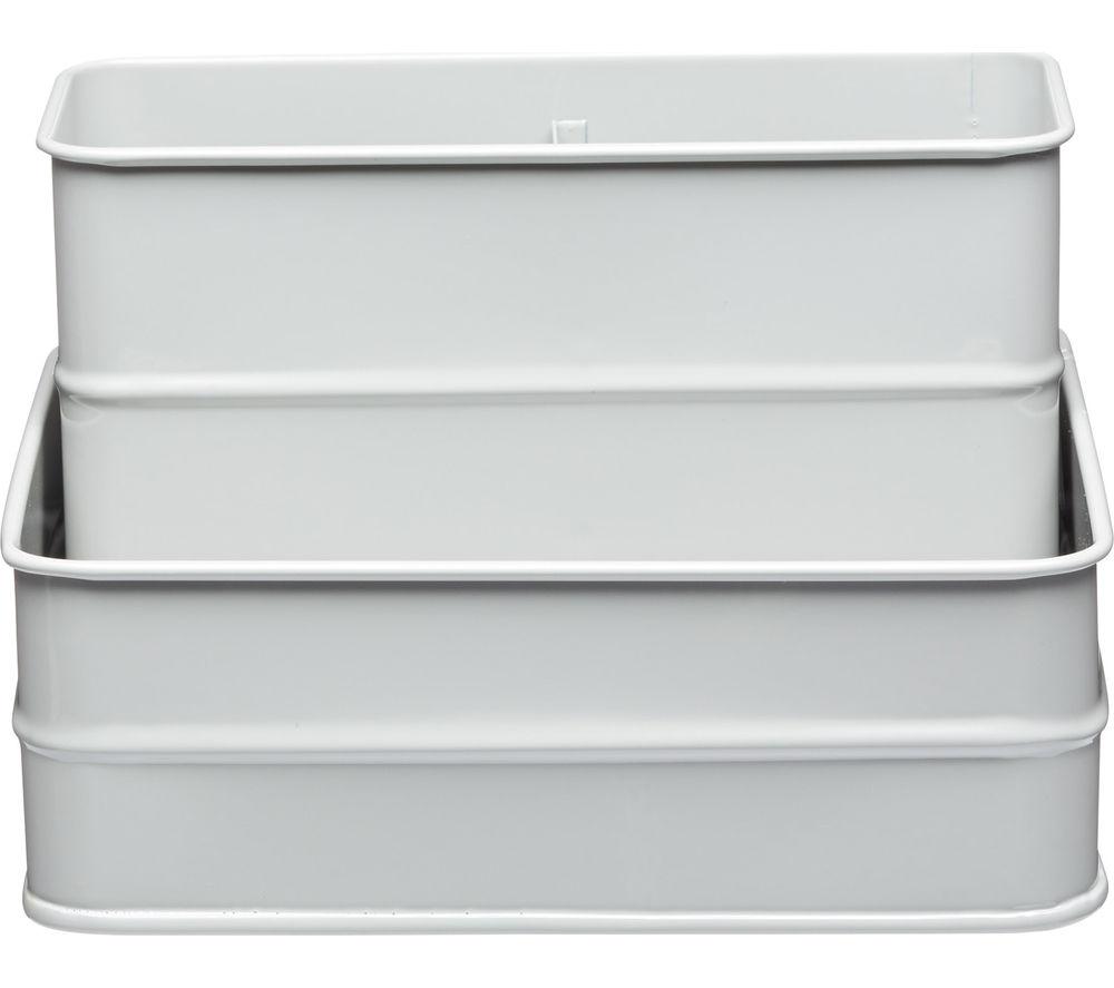 Buy KITCHEN CRAFT Living Nostalgia Vintage Sink Tidy - Grey | Free ...