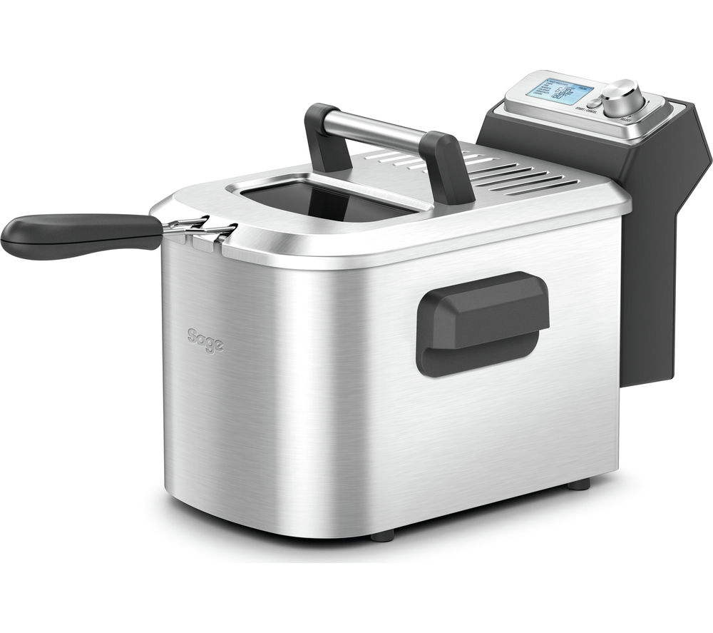 SAGE by Heston Blumenthal BDF500UK Smart Deep Fryer - Silver, Silver