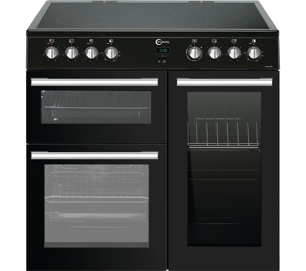 FLAVEL MLN9CRK 90 cm Electric Ceramic Range Cooker - Black