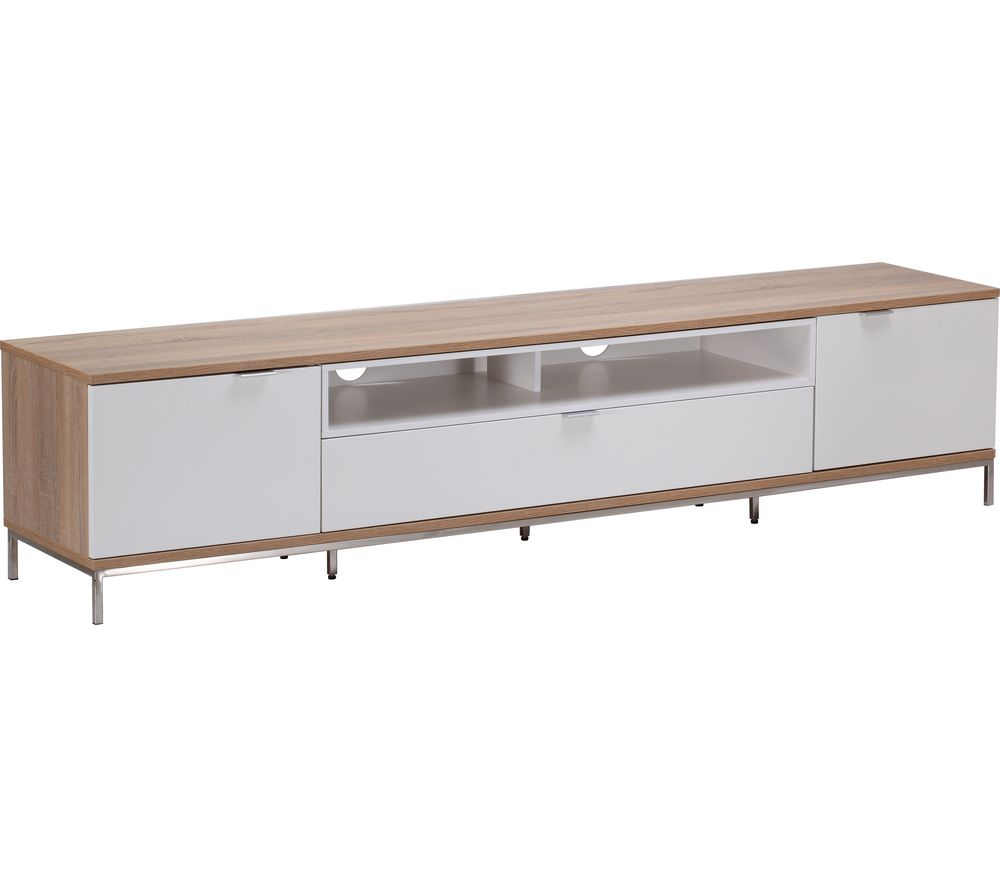 ALPHASON Chaplin 2000 TV Stand - White & Light Oak