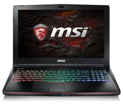 "MSI GE62VR 15.6"" Intel® Core™ i7 GTX 1060 Gaming Laptop - 1 TB HDD & 128 GB SSD"