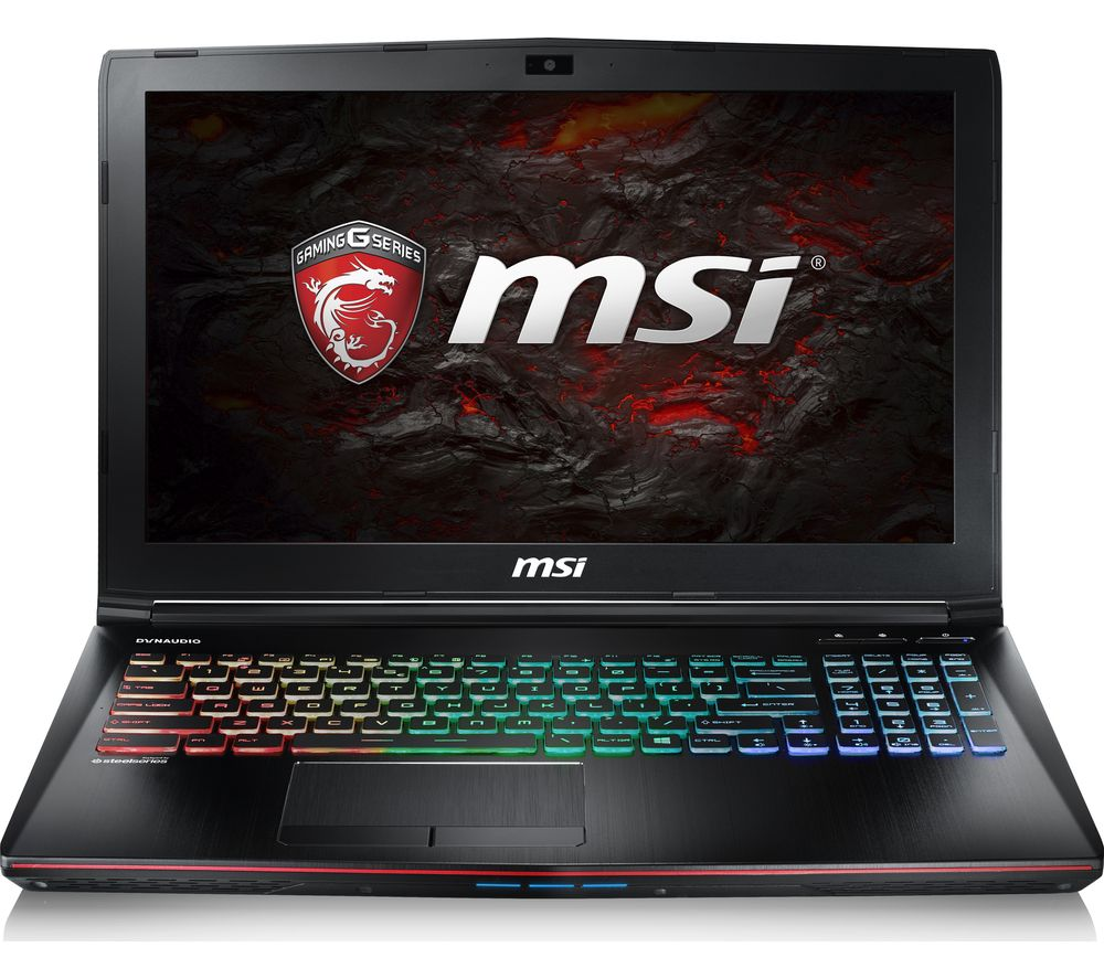 "MSI Apache Pro GE62VR 15.6"" Gaming Laptop - Black + L15BUN16 15.6"" Laptop Case with Wireless Mouse & Screen Wipes - Black"