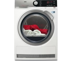 AEG AbsoluteCare T8DEE845R Heat Pump Condenser Tumble Dryer - White