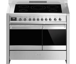 SMEG Opera 100 cm Electric Induction Range Cooker - Stainless Steel