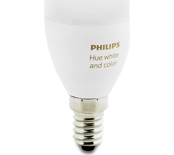 buy philips hue white colour ambience smart led bulb candle e14 free delivery currys. Black Bedroom Furniture Sets. Home Design Ideas