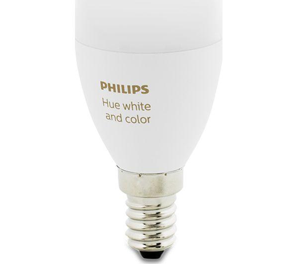Philips Hue Lampen E14.Buy Philips Hue White Colour Ambience Smart Led Bulb Candle E14