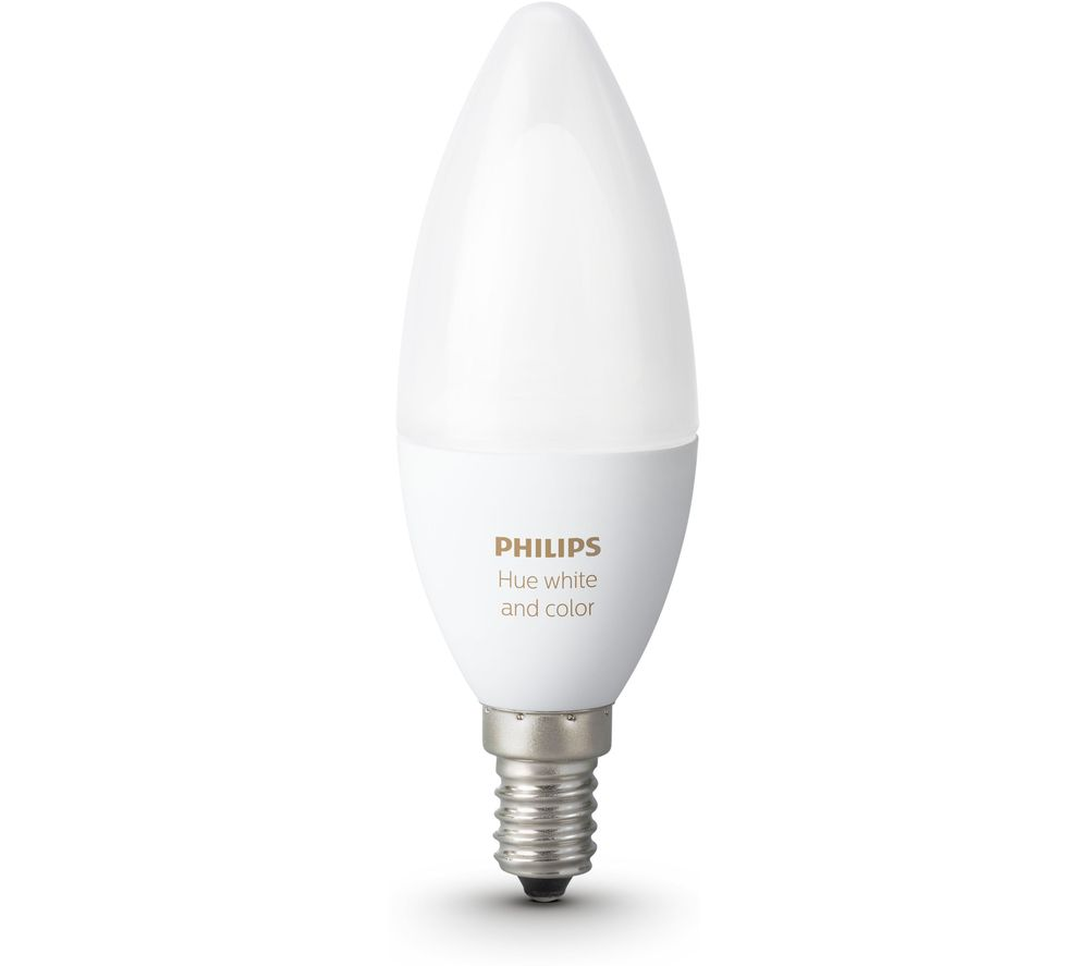 PHILIPS Hue White & Colour Ambience Smart LED Bulb - Candle E14