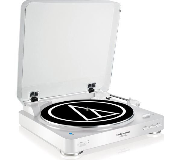 Image of AUDIO TECHNICA AT-LP60BT Belt Drive Bluetooth Turntable - White