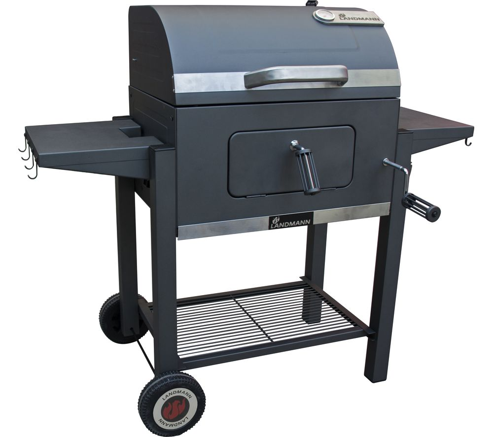 LANDMANN Tennessee Broiler Drum Charcoal BBQ - Black