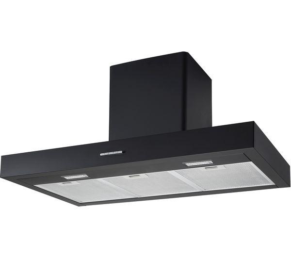 logik black box l90chdb17 chimney cooker hood black fast delivery