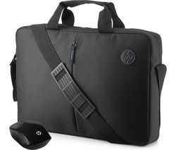 "HP Value 15.6"" Laptop Case & Wireless Mouse - Black"