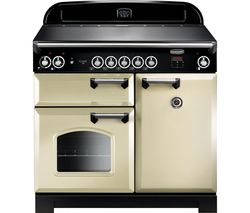 RANGEMASTER Classic 100 cm Electric Induction Range Cooker - Cream & Chrome