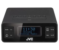 JVC RA-D38-B DAB/FM Clock Radio - Black & Grey