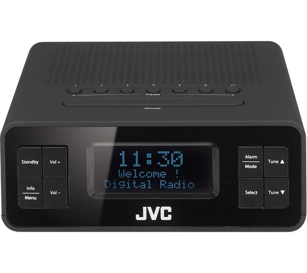 Image of JVC RA-D38-B DAB/FM Clock Radio - Black