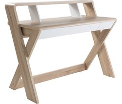 ALPHASON Aspen AW2110 Desk - Light Oak & White