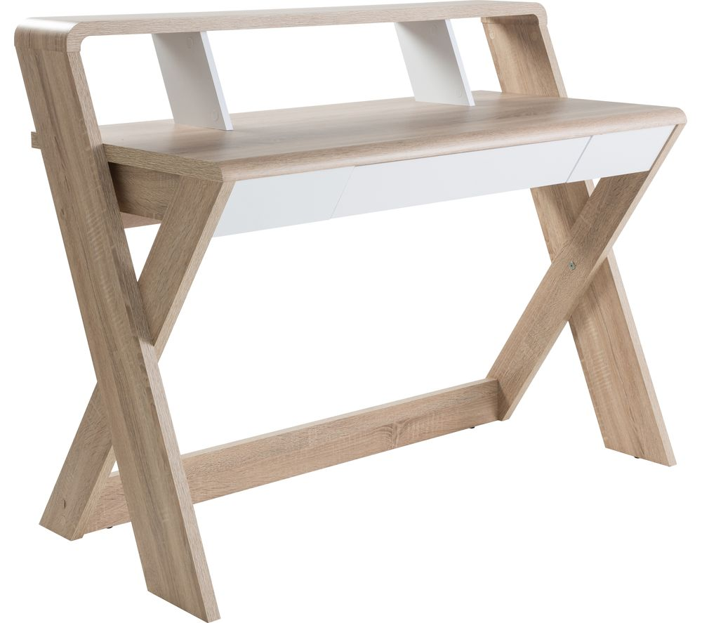 ALPHASON Aspen AW2110 Desk - Light Oak & White, White