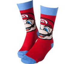 NINTENDO Mario Socks - 6-8, Red & Blue
