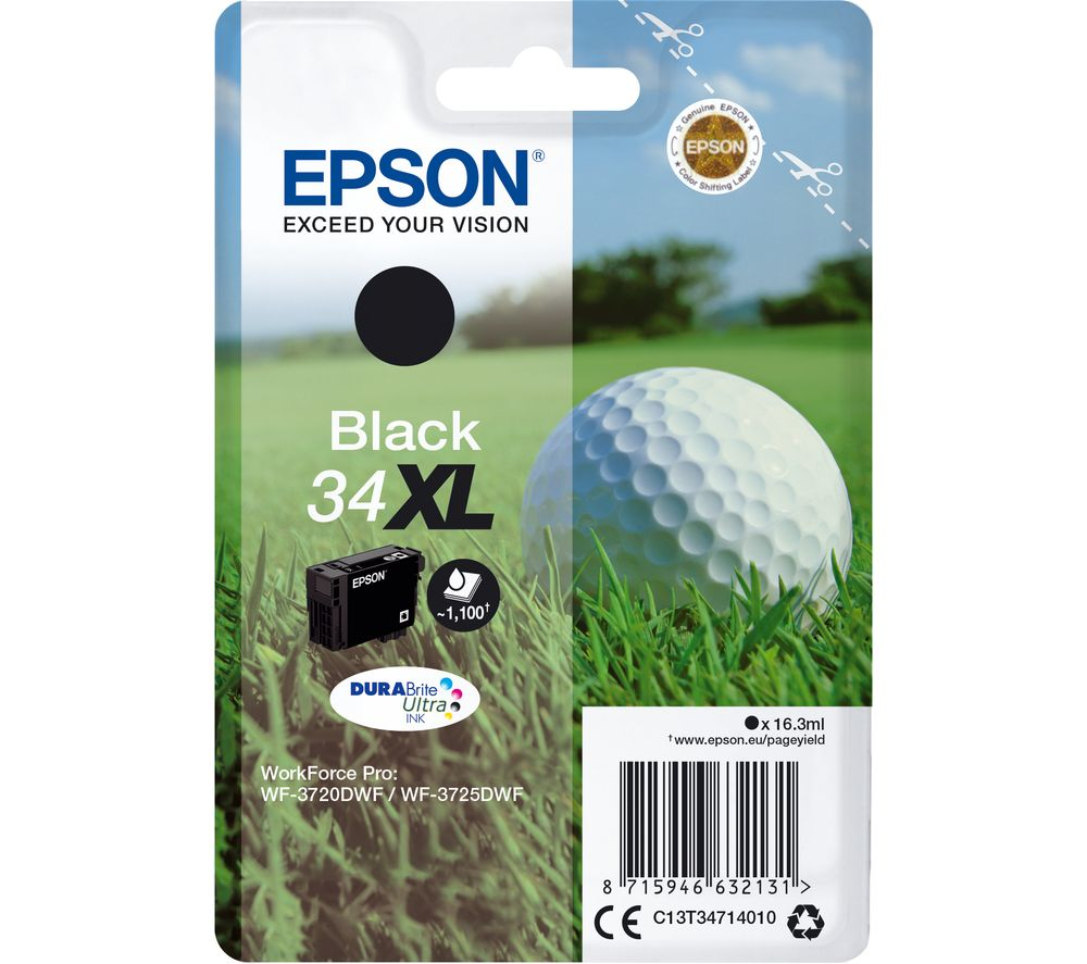 EPSON 34 Golf Ball XL Black Ink Cartridge