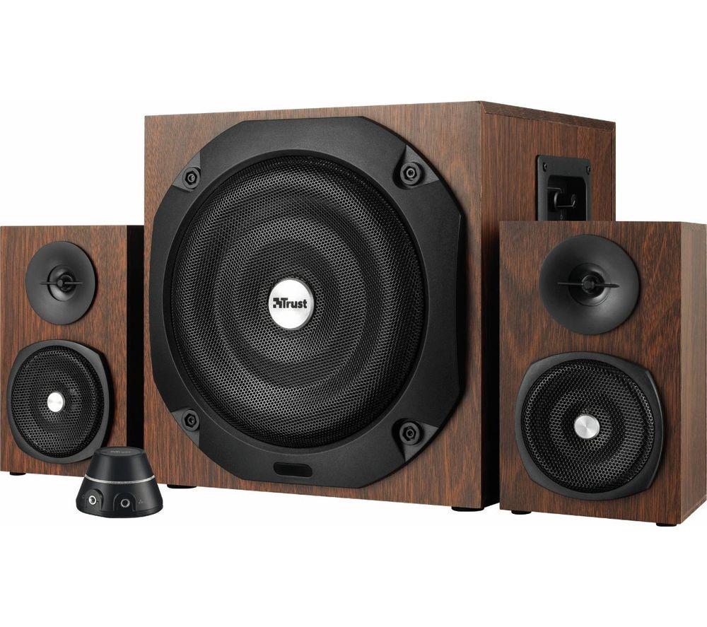 TRUST Vigor 2 1 PC Speakers - Brown