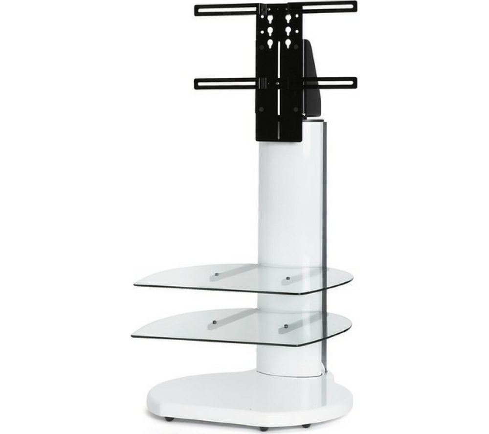 OFF THE WALL Origin II S4 500 mm TV Stand with Bracket - Gloss White