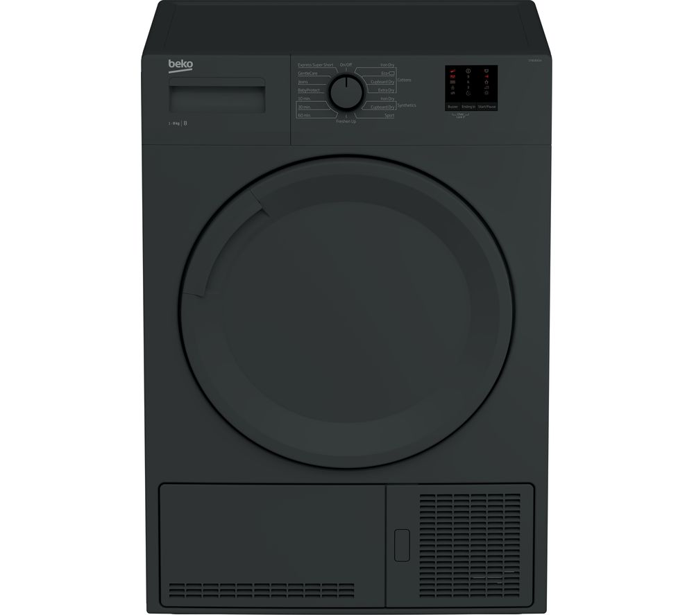 BEKO DTBC8001A 8 kg Condenser Tumble Dryer - Anthracite