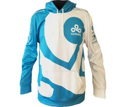 CLOUD 9 Pro Pullover Hoodie - Medium, White & Blue
