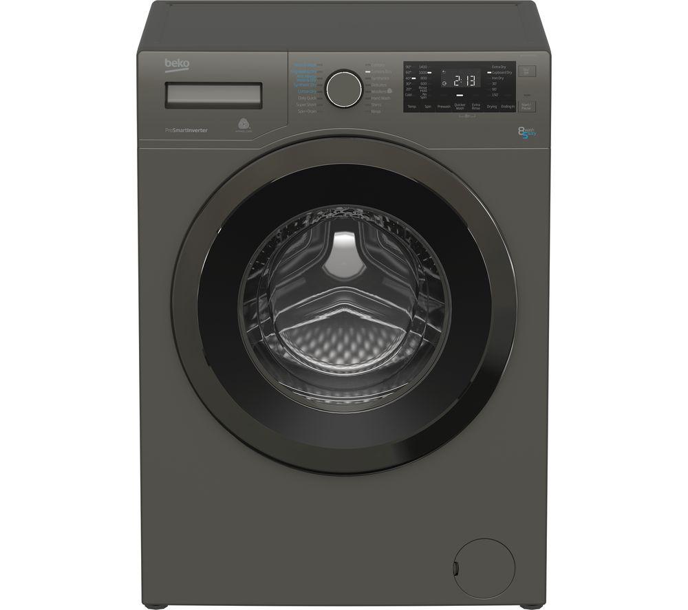 Beko Washer Dryer WDX8543130G 8 kg  - Graphite