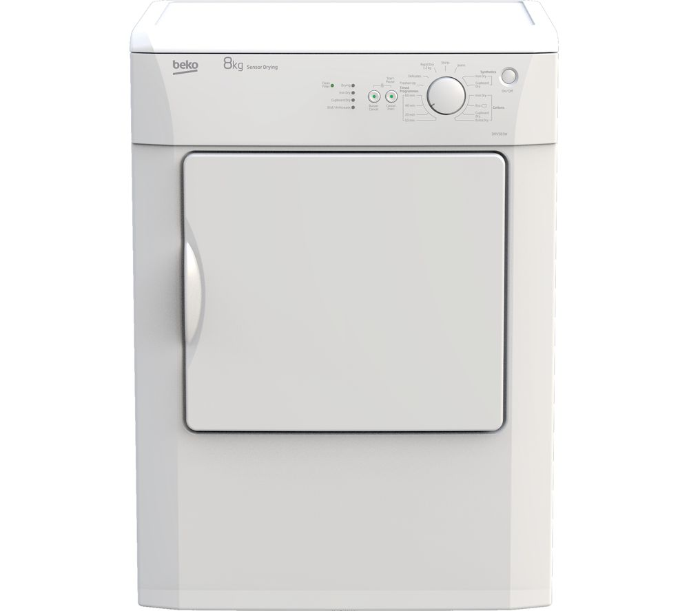 BEKO DRVS83W 8 kg Vented Tumble Dryer - White