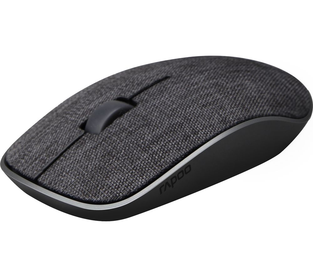 Image of RAPOO 3510 Plus Wireless Optical Fabric Mouse - Black, Black