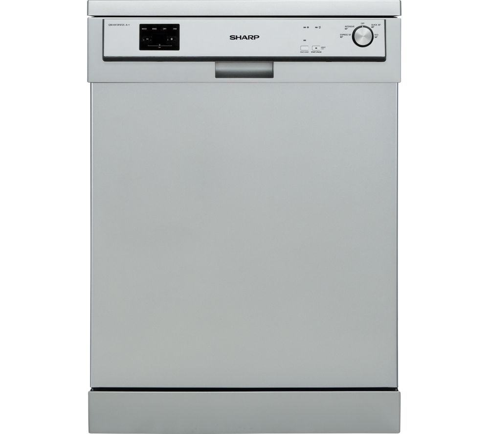 SHARP QW-DX13F47S Full-size Dishwasher – Silver, Silver